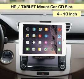Car Mount CD Rack Holder HP TABLET - Tempat Dudukan CD Slot Mobil
