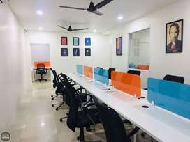 10 to 100 work station office space at Rent  prime locations indore