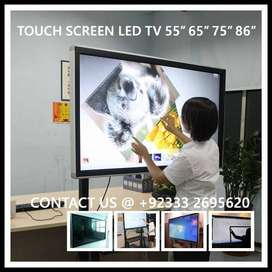 Interactive Screen LED Touch TV 55 65 75 86 inches TV with Android