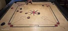 Precise elegant Tournament Carrom board with coins
