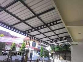 Kanopi bahan besi galvanis anti karat atap galvalum
