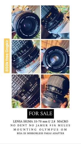 SIGMA 35-70 mm f/2.8  MACRO bisa buat mirrorless