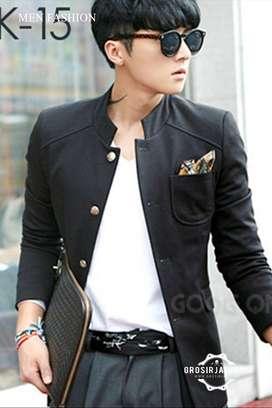 Jas Pria, Blazer Casual, Black Blazer Jacket, manzoneid jas pengantin