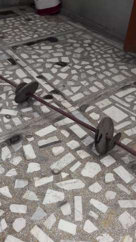 Weight lifting made of Iron having 70 pounds weight