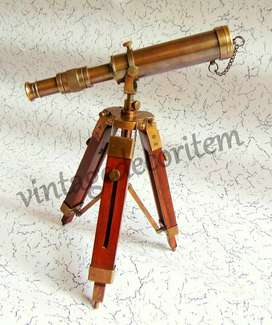 Vintage Style Brass Antique 10 inches Telescope with Tripod stand