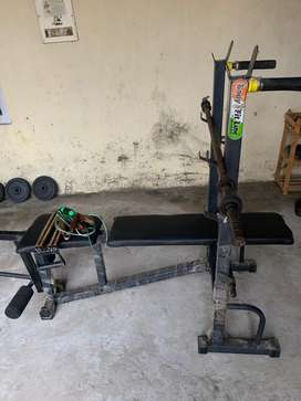 Bench press and Gym all equipments
