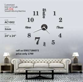 Acrylic DIY mirror wall clock quartz clocks for Bedrooms Home