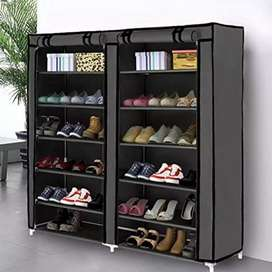 Acedas 36-Pairs Portable Shoe Rack Double Row Shoe Storage Organiz