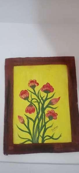 Acrylic colour painting on canvas