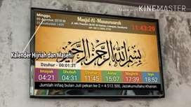 Jam Sholat Masjid Digital TV Led