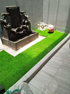 Suplai Rumput Sintetis Taman Outdoor / Indoor Siap Pasang Gratis Lem