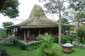 Rumah kampung jawa kayu jati antik tahan gempa Joglo dan Limasan.