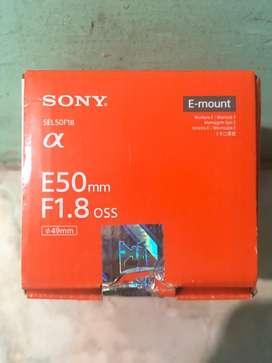 Lensa Sony E50mm f1.8 oss