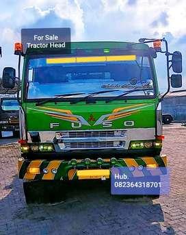 Truk Tractor head trailer komplit gandengan 3 as