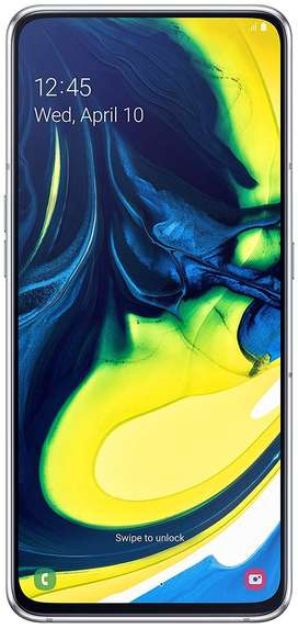 Samsung Galaxy A80 (Ghost White, 8GB RAM, 128GB Storage)
