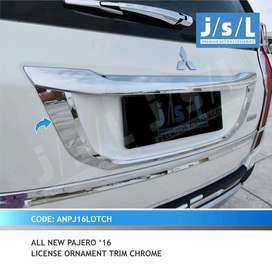 a.n pajero 16 license ornament trim chrome