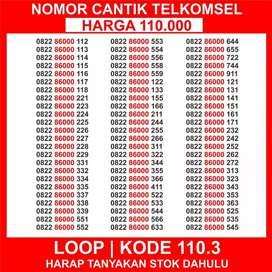 Nomor Cantik Telkomsel 110.3 Nomor Cantik Loop Nomor Cantik Simpati