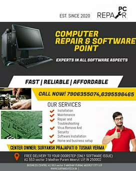 Computer reparing and software point (suryansh Prajapati)