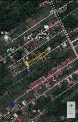 Lokasi siap bangun daerah Dansen jln. Petani gg. Rahul luas 10x20