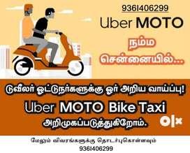 Uber Moto (Bike Taxi) Part/Full Time Job Immediate Requirements