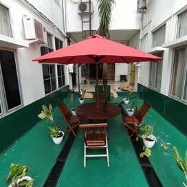 Payung Taman bahan kayu jati Indralaya. Ready stock palembang