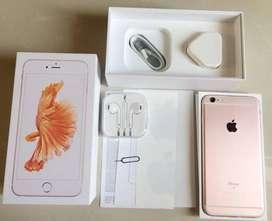 iPhone 6S Plus 128GB RoseGold Second EX Inter Fullset Imei Aman AllSIM