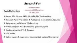 Projects and research paper publication