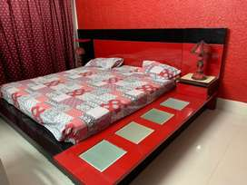 Modern Deco Bed | RED and BLACK