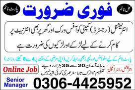 Jobs for Males/Females (Part Time, Full Time, Home Based Online Job)