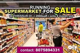 running supermarket for sale