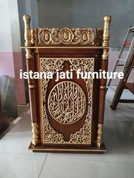 Mimbar masjid podium ceramah masjid siap kirim Free ongkir