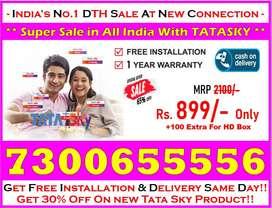 70% Off On New Tata Sky HD, Dishtv, Airteltv, Tata Sky HD Smart Book!!