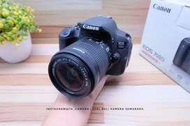 Canon 700D lensa kit 18-55 is stm mulus fullset murah