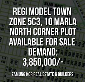 RMT, Zone 5, sector C3, 10m marla CORNER plot available for SALE
