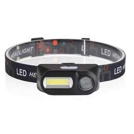 Headlamp Flashlight LED 3 Modes COB - - Black