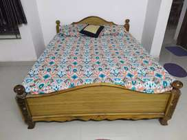 Queen Size bed With Matress Just 1year old