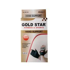 GOLD STAR Fitness Workout Cross Training Sports Gym Gloves Padded Sili