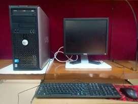 Dell system ddr3 computer machine 500gb hdd 4gb ram 17inc dell monitor
