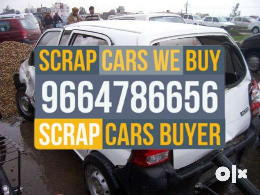 Bajw. Accidental old damaged rusted junked car scrap buyers