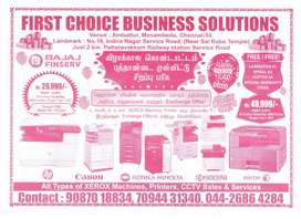XEROX MACHINE SALES AND SERVICE FOR FESTIVAL OFFER