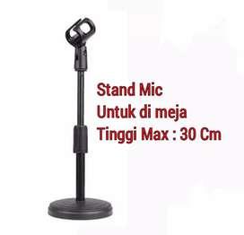 Stand microphone mic mik meja model tripod 30 cm