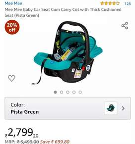 Baby Car seat Carry coat by Mee Mee for new born