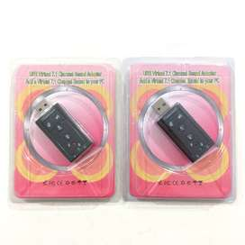 N E W USB to SOUND Adapter 7.1 Channel untuk Notebook/Laptop/PC/HP