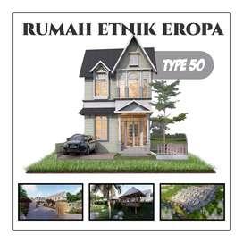 Rumah Etnik Eropa Hanya 259 jt Di Kawasan Agrowisata Dekat IPB Bogor