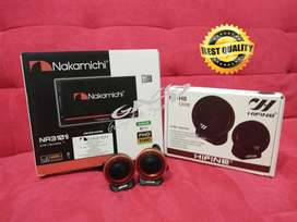 PAKET 2 DIN NAKAMICHI DECKLESS PLUS TWEETER HIFINE PREMIUM