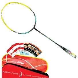 raket badminton lining turbo x70 g4 black/green