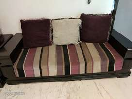 7 seater with glass center table