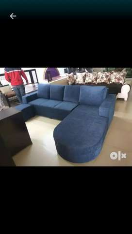 Sofa set l_type six seater without table