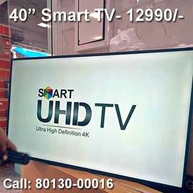 """40"""" LED Smart TV with 3 years warranty"""