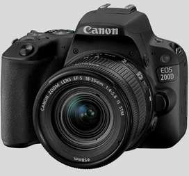 canon rebel sl2 200D with 18-55 mm lens